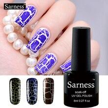 sarness 8ml Professional Cracking Nail Varnish Crackle Shatter Gel Nails Polish 12 Colorful Crack UV Nail Lacquer top base coat