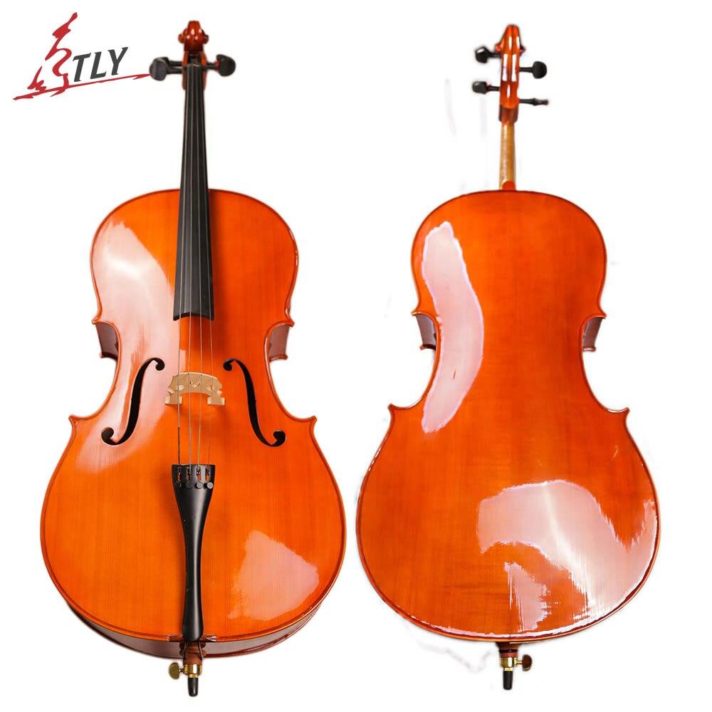 TONGLING Vernice Ad Olio Più Poco Costoso Cello Full Size 4/4 4/3 1/2 1/4 di Alta Qualità di Stile Antico Principiante Cello