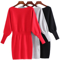 Autumn And Winter Take The Dress Female 2017 New Long Sleeved Backing Sweater Women S Long