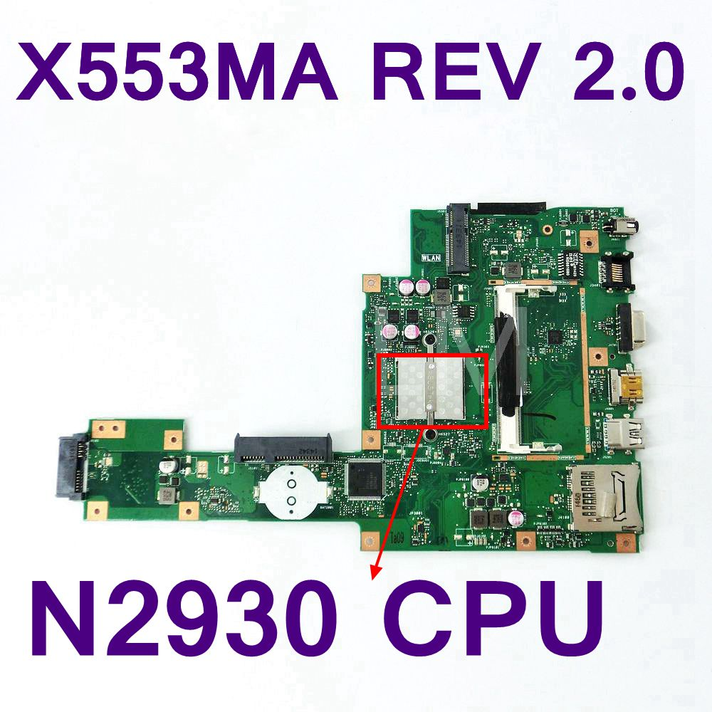 X553MA With N2930 CPU Mainboard REV 2.0 For ASUS F503M X503M F553MA X503MA D503M Laptop motherboard 100% Tested Free Shipping все цены
