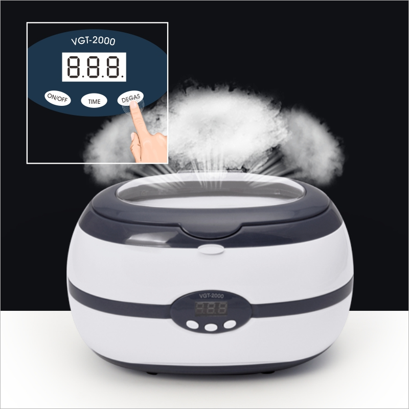 Digital Display Ultrasonic Cleaner for Nail tool eyeglass watch jewellery false tooth,razor tank with basket best cleaning bath nail clipper cuticle nipper cutter stainless steel pedicure manicure scissor nail tool for trim dead skin cuticle