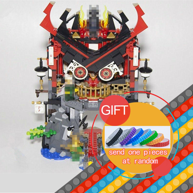 06078 857pcs Ninja Temple of Resurrection set Model Building Blocks Assemble Toys Bricks Movie Compatible With 70643 lepin lepin 663pcs ninja killow vs samurai x mech oni chopper robots 06077 building blocks assemble toys bricks compatible with 70642