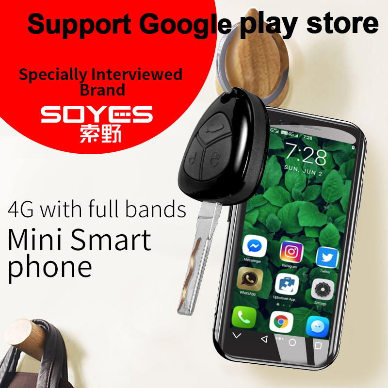 2019 SOYES XS 4G 3 0 Screen Mini Smartphone Google play store  2GB+16GB/3G+32G Android 6 0 Bluetooth4 0 Wifi GPS PK SOYES 7S