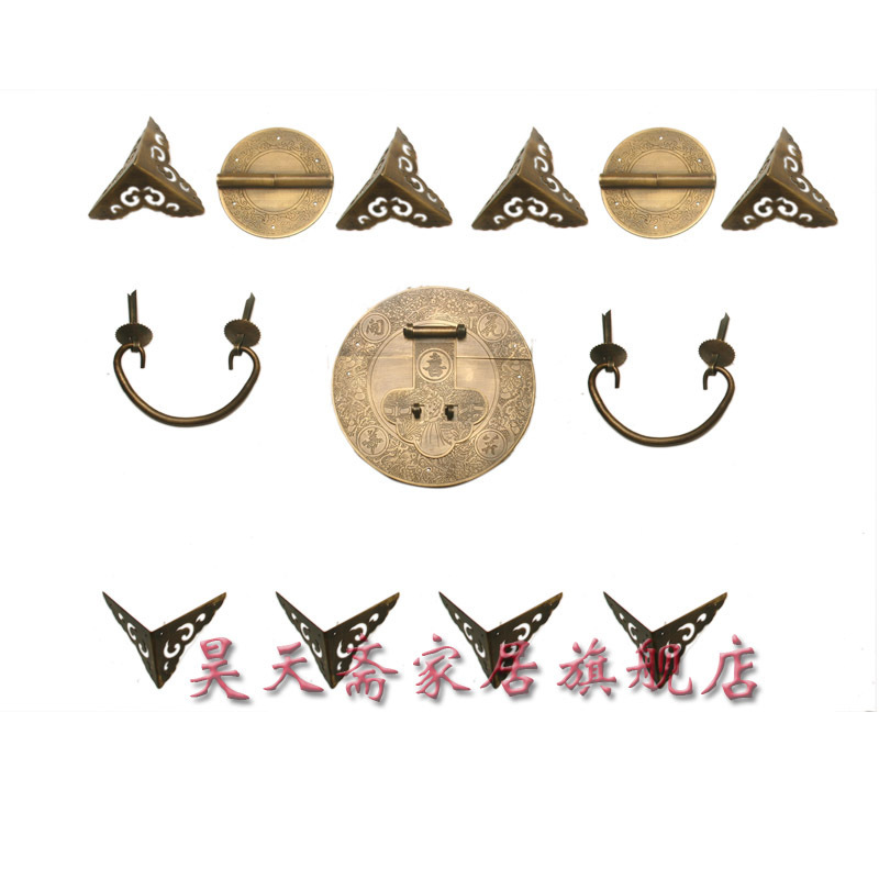 [Haotian vegetarian] live Zhangmu Xiang Chinese antique copper fittings / antique copper fittings HTN-040 купить