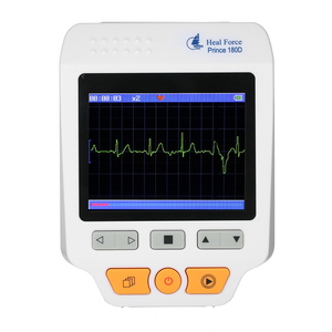 Image 4 - Heal Force Prince 180D Medical Portable ECG EKG Heart Rate Monitor LCD Chest Limb Electrocardiograph 3 channel 25pcs Lead wires