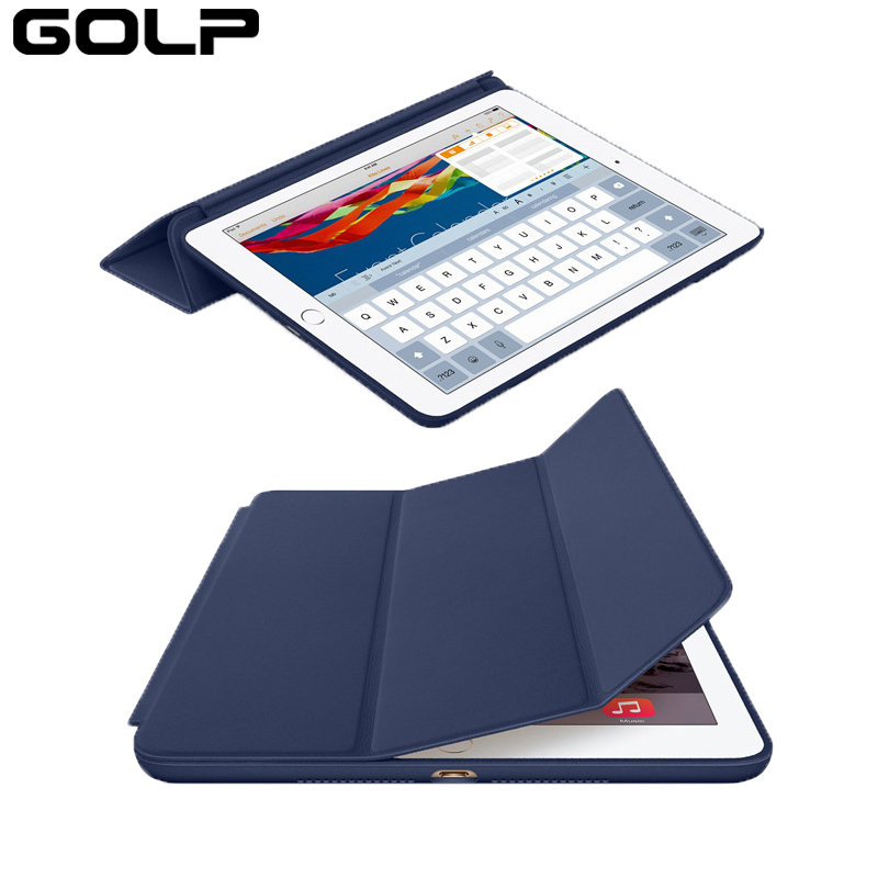 Cover Case For Apple iPad Pro 12.9, GOLP Quality PU Leather Folding Folio Protective Smart Cover Case for Apple iPad Pro 12.9 nice soft silicone back magnetic smart pu leather case for apple 2017 ipad air 1 cover new slim thin flip tpu protective case