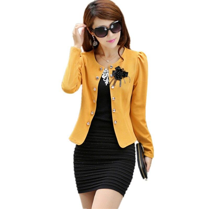 Autumn Spring Women Jacket Suit Plus Size L-5XL Fashion Short Coat Casaco Feminino Female Clothes Tops Elegant Brand Outwear