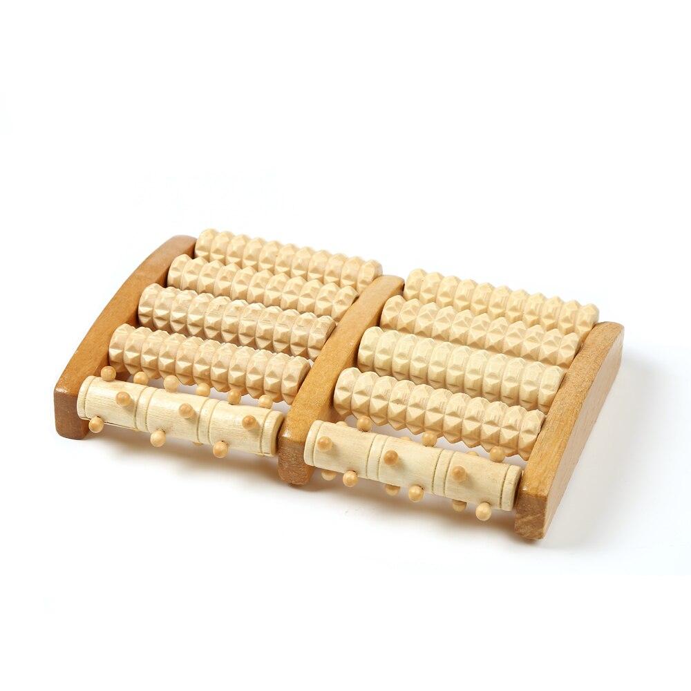 En bois Rouleau Stress Relief Pied Masseur Pratique Bois Rouleau De Massage