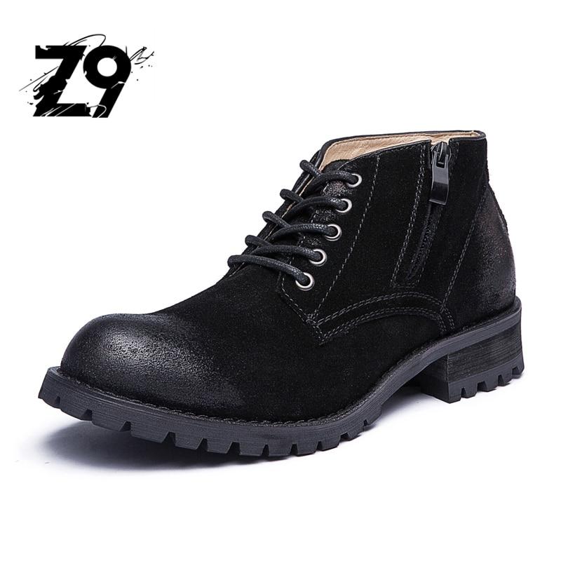 Top new men font b boots b font ankle fashion casual shoes style font b cowboy