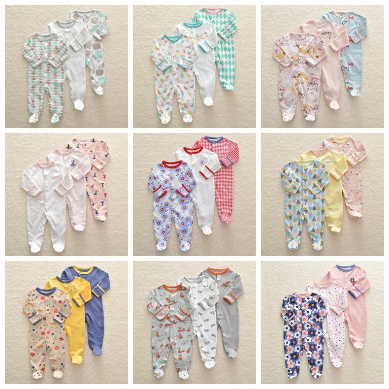 Baby pajamas cotton newborn bebe clothing 3pcs girls clothes unicorn rompers infants pajamas boys clothing toddler jumpsuitBaby pajamas cotton newborn bebe clothing 3pcs girls clothes unicorn rompers infants pajamas boys clothing toddler jumpsuit