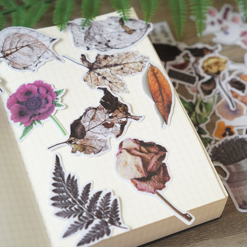 Transparent Sticker For Natural Dry Flower And Dead Leaf Sulfuric Acid Paper   Decoration Stationery Sticker Diy Ablum Diary