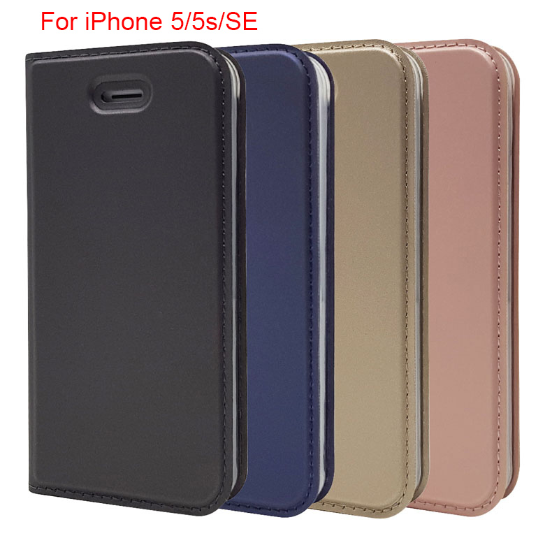 For iPhone 55sSE Magnetic voltage PU leather Luxury Phone wallet case with card slot for iPhone55sSE