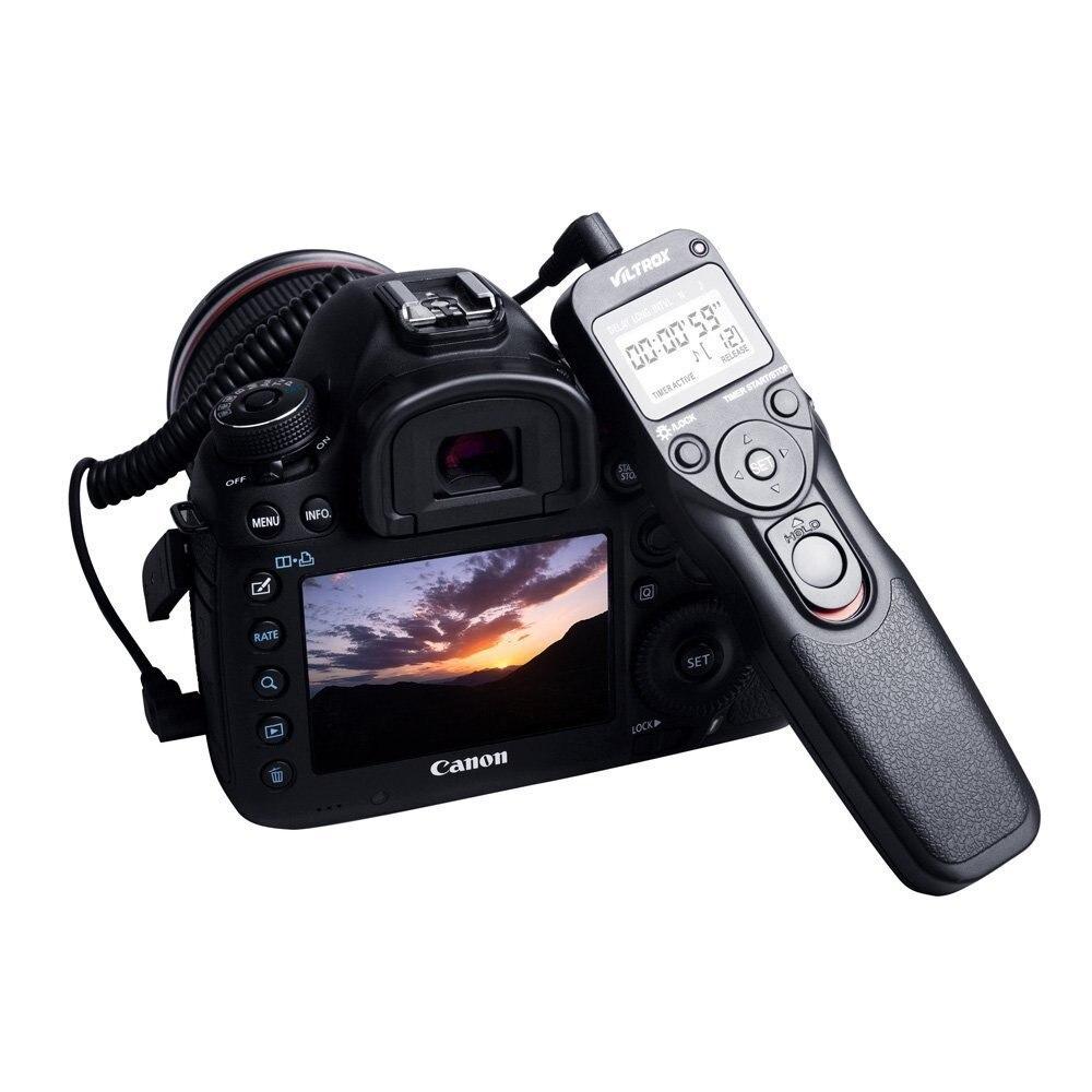 Viltrox mc-c1 Cámara LCD temporizador Control remoto Lanzamiento de obturador para Canon 1300d 760d 750d 800d 650d 600d 550d 100d 60d 77d 80d SLR