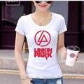 2017 Verano la Música Rock Hip Hop Camisetas Linkin Park Moda Impreso T-shirt de la Alta Calidad Adelgazan los Vestidos Para Niñas T Camisa de Los Hombres