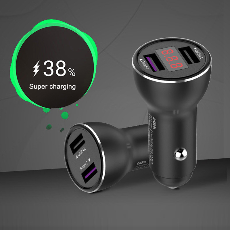 Supercharge USB Car Charger 2 Port Smart FCP Fast Charger For HUAWEI Mate 8 9 10 Pro P10 Plus P20 Honor 8 V8 9 V9 V10 Nova 2S 3E