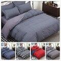 Grey 3pcs/4pcs Bedding Set Soft Cotton Bed Linen Double Queen King Size Duvet Cover 180x220 200x230 220x240 Sheet Pillow Case 2m