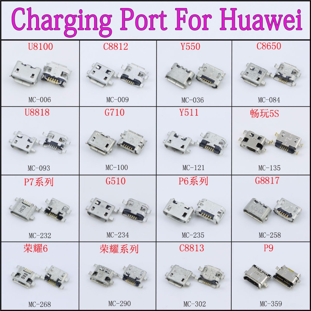 cltgxdd 16Models 5p 5pin mini micro usb jack connector charging port for huawei mobile phone tablet pc mid