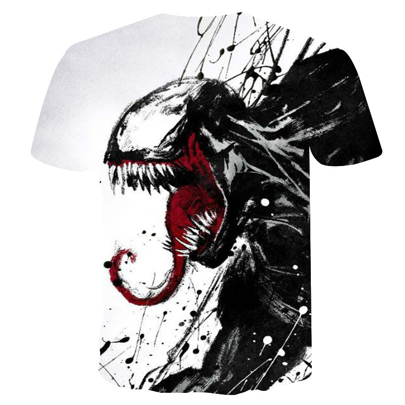 Newest Venom t-shirt 3D Printed T-shirts Men Women Casual Shirt Short Sleeve Fitness T Shirt Deadpool Tees Spider man Skull Tops
