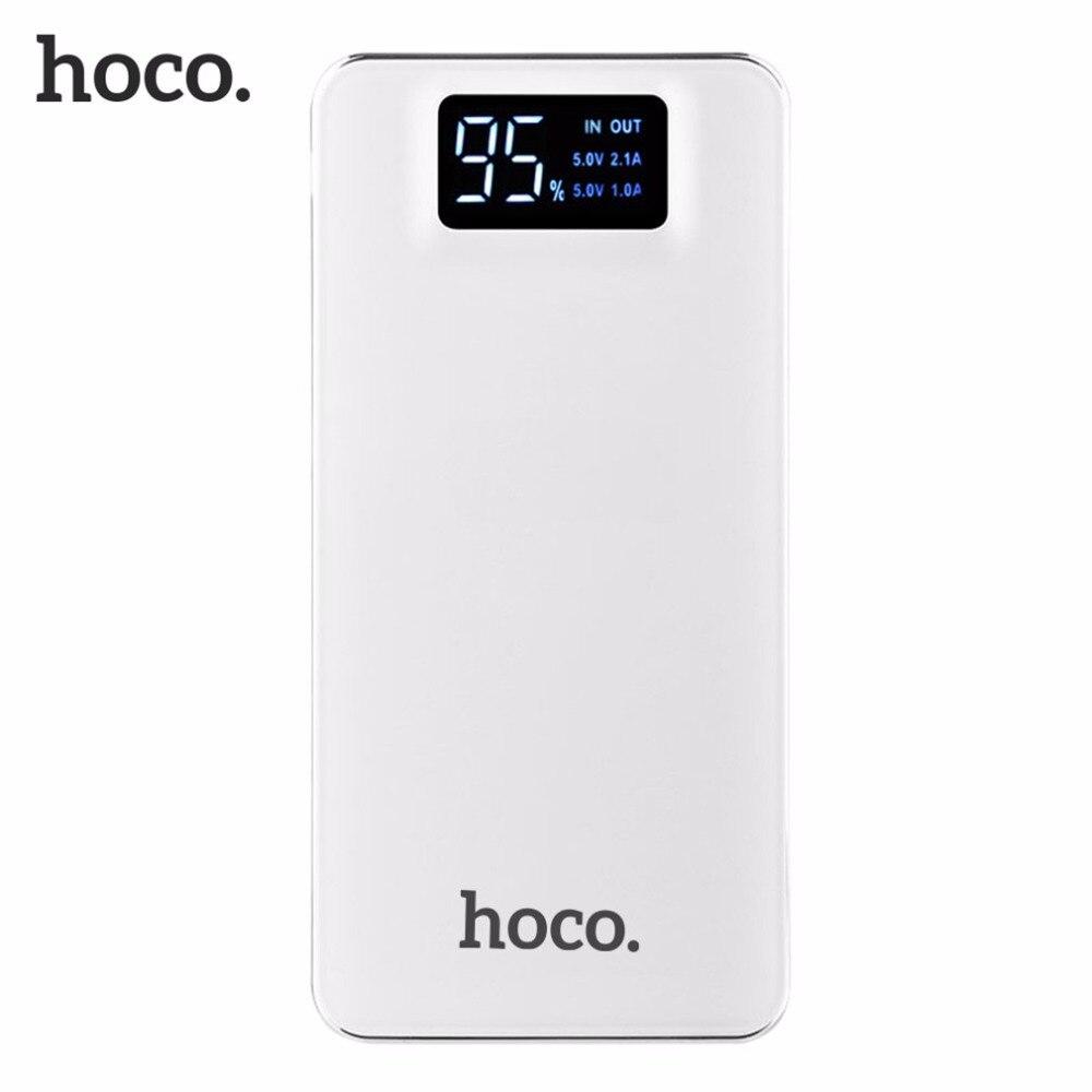 bilder für HOCO Große Kapazität 10000 mAh Praktische ultradünne Energienbank Mobile Power Schnelle Ladegerät Mit Led-taschenlampe Externes