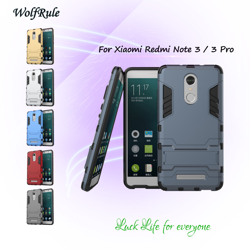 Pouzdro WolfRule pro kryt Xiaomi Redmi Note 3 Pro PC a TPU držák nárazníku Pevný kryt pro Xiaomi Redmi Note 3 Cover <