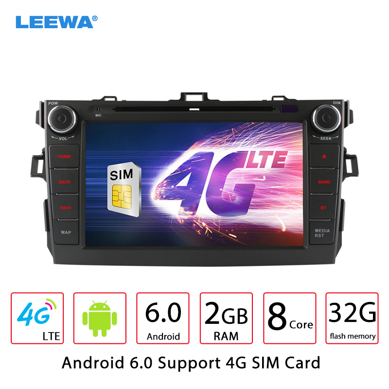 8″ inch Android 6.0 (64bit) DDR3 2G/32G/4G LTE Octa Core DDR3 2G/4G LTE Car DVD GPS Radio Head Unit For Toyota Corolla #CA4518