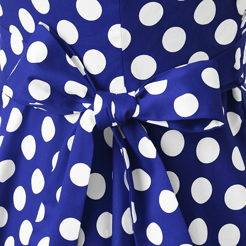 f0fa429b35 ... Black And White Polka Dot Dress Women Short Sleeve Bow Tie Summer Dress  2018 Female Casual ...