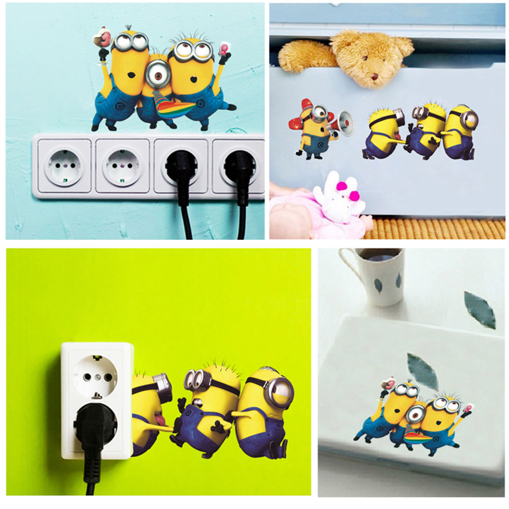 Online Shop Minion Wall Stickers Switch Sticker CM Removable - Minion wall decals