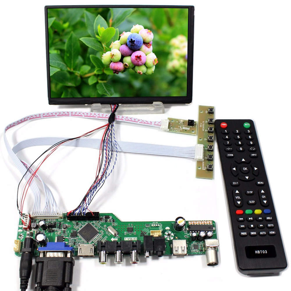 все цены на  TV PC HDMI CVBS RF USB AUDIO driver Board 7inch N070ICG LD1 39pin 1280x800 IPS lcd  онлайн