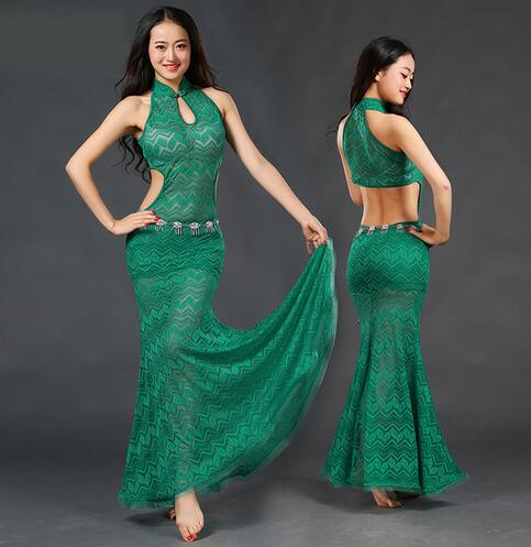 Picture of 2017 Real Cotton Rushed Branded Garments Belly Dance Costume Professional For Women Bellydance Dress Zm091
