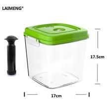 LAIMENG Kunststoff Lagerung Container Für Lebensmittel Lagerung Große Kapazität Vakuum Container Arbeit Mit Pumpe Vakuum Versiegelung S189