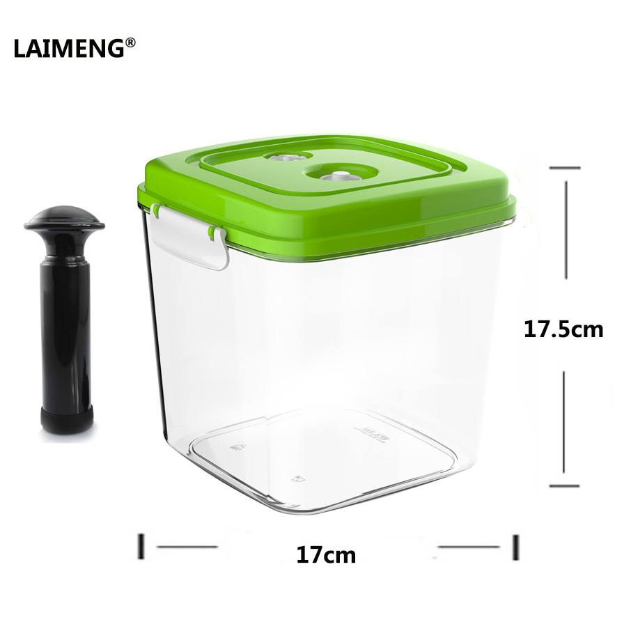LAIMENG Plastic Storage Containers For Food Storage Large Capacity Vacuum Container Work With Pump Vacuum Sealer S189