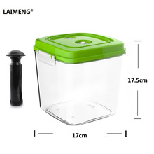 Laimeng プラスチック保存容器食品収納大容量真空容器ポンプ真空シーラー S189 で動作