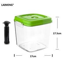 Laimeng recipientes de armazenamento para alimentos, recipientes de plástico para armazenamento de alimentos grande capacidade, trabalho com bomba, seladora a vácuo s189