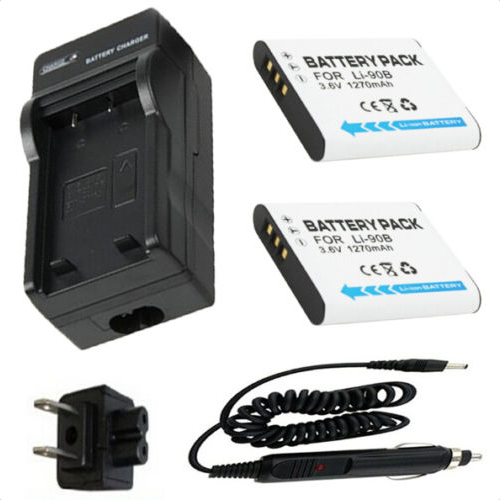 Battery 2 Pack Charger for Olympus Stylus TG 1 TG 1 TG 2 TG2 TG 3