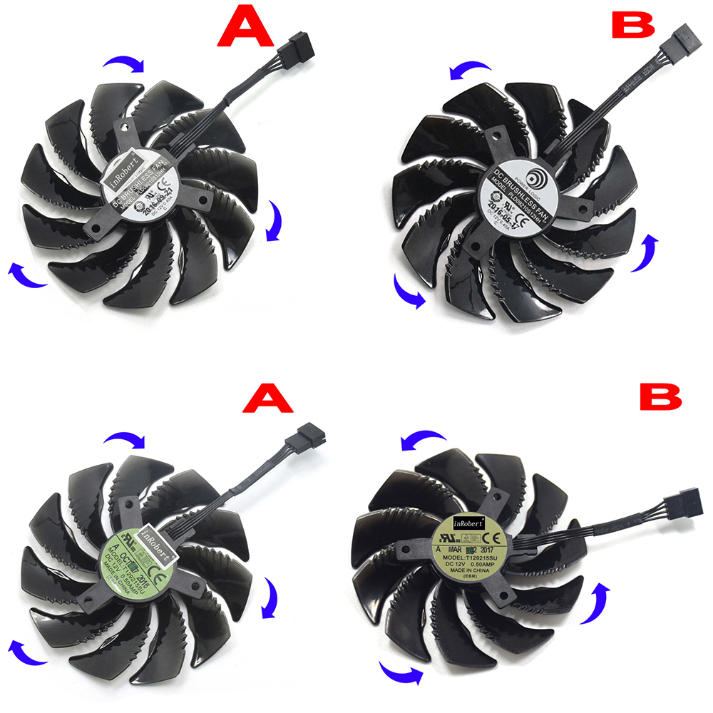 88mm T129215SU PLD09210S12HH 12 v 4Pin Lüfter Für Gigabyte GTX1060 1050 1070 Ti RX 480 570 580 Gaming karte Kühler Fan