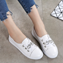 Liren 2019 Summer New Fashion Casual Comfortable Women Vulcanize Shoes Crystal Style Round Wrapped Toe Flat Heels Lady