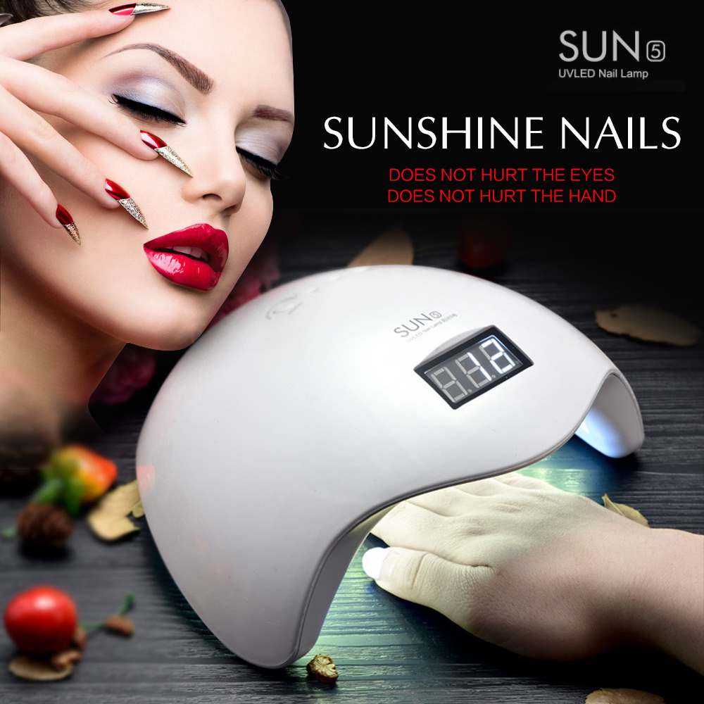 SUNUV Gel Nail Dryer Lamp 48W SUN5 White Light Profession Manicure LED UV Dryer Lamp Fit Curing All Nail Polish Nail Tools 48w 365 405nm sunuv led lamp nail dryer salon nail gel light electric eu plug uv curing lamp dryer fit all nail polish c025