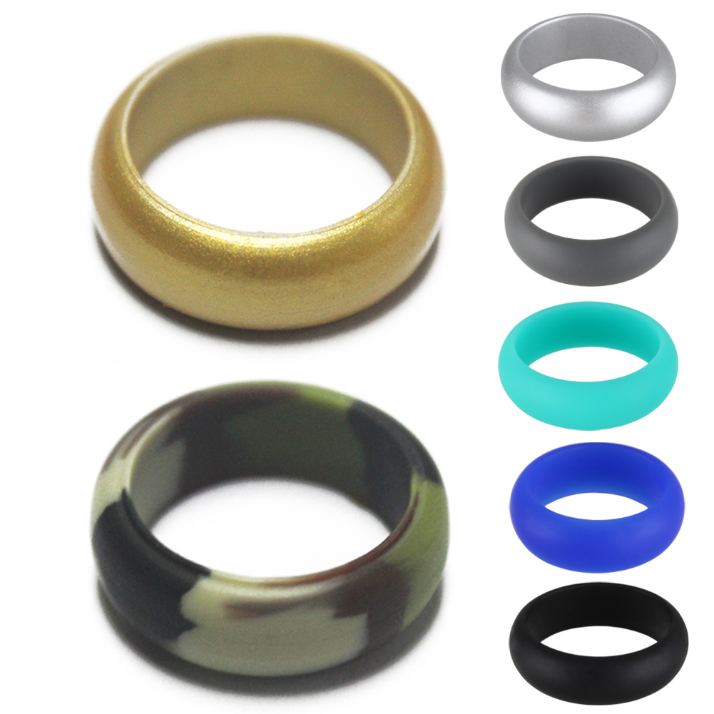 1 Pcs 8mm Silicone Ring For Women/ Men Wedding Jewelry Sport Ring Wedding Gift Flexible Safe Finger Ring @M23