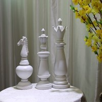 International Chess Home Decoration Accessories European Desktop Decoration High end Home Decoration Creative Resin Crafts Gifts