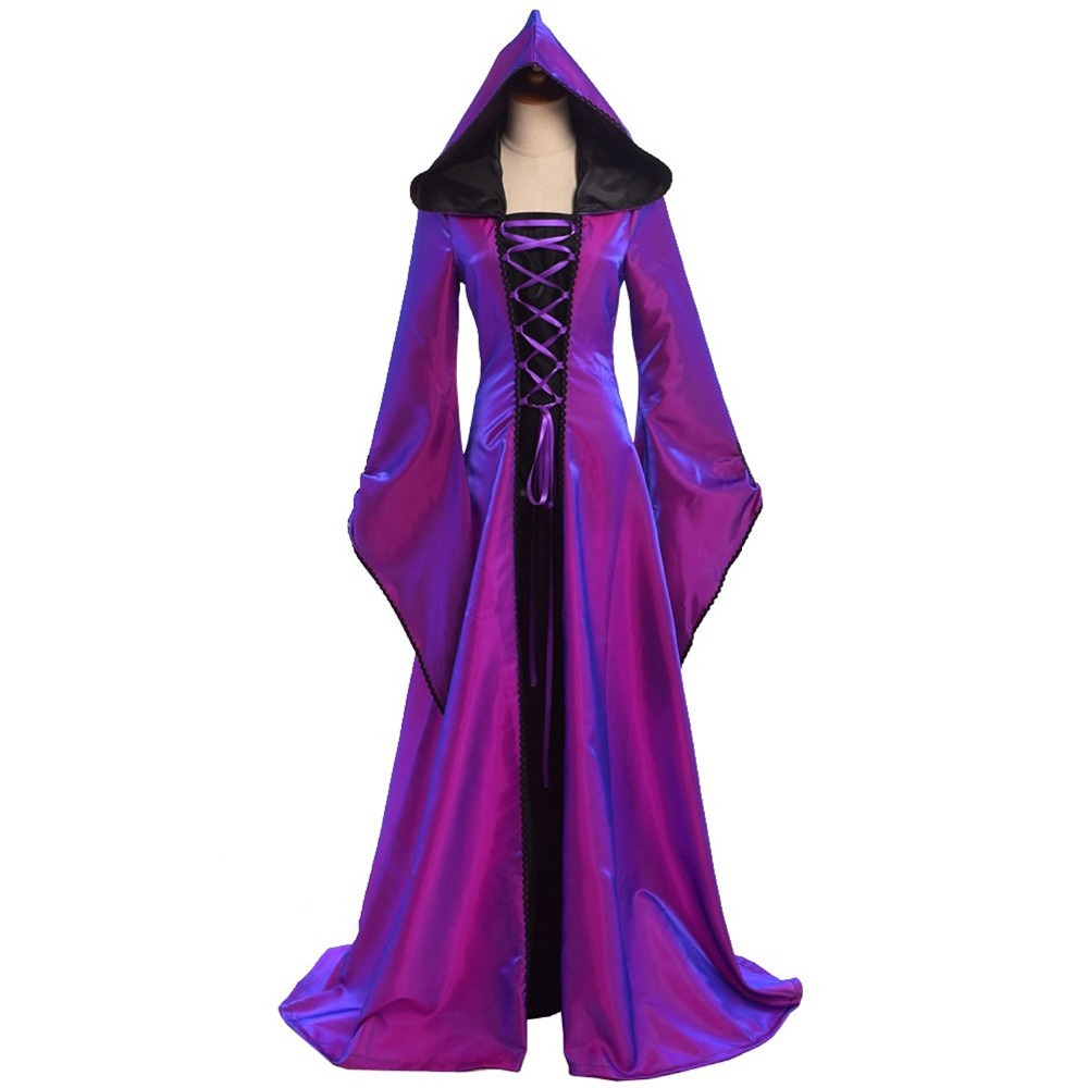 Vintage Purple Gothic Ball Gown Wedding Dresses With Cloak: 18th Century Gothic Vintage Prom Ball Gown Theatre