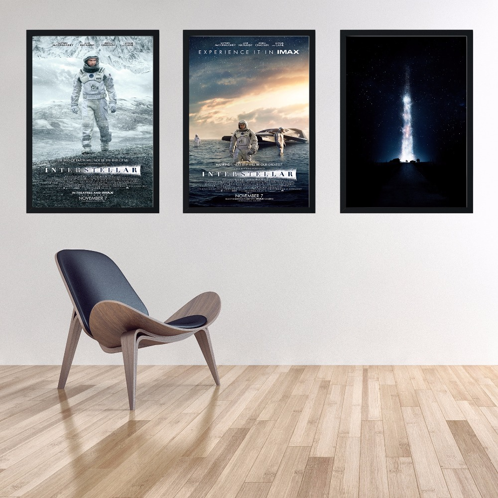 Decoration HD Posters Living Room Wall Interstellar On Canvas Home ...