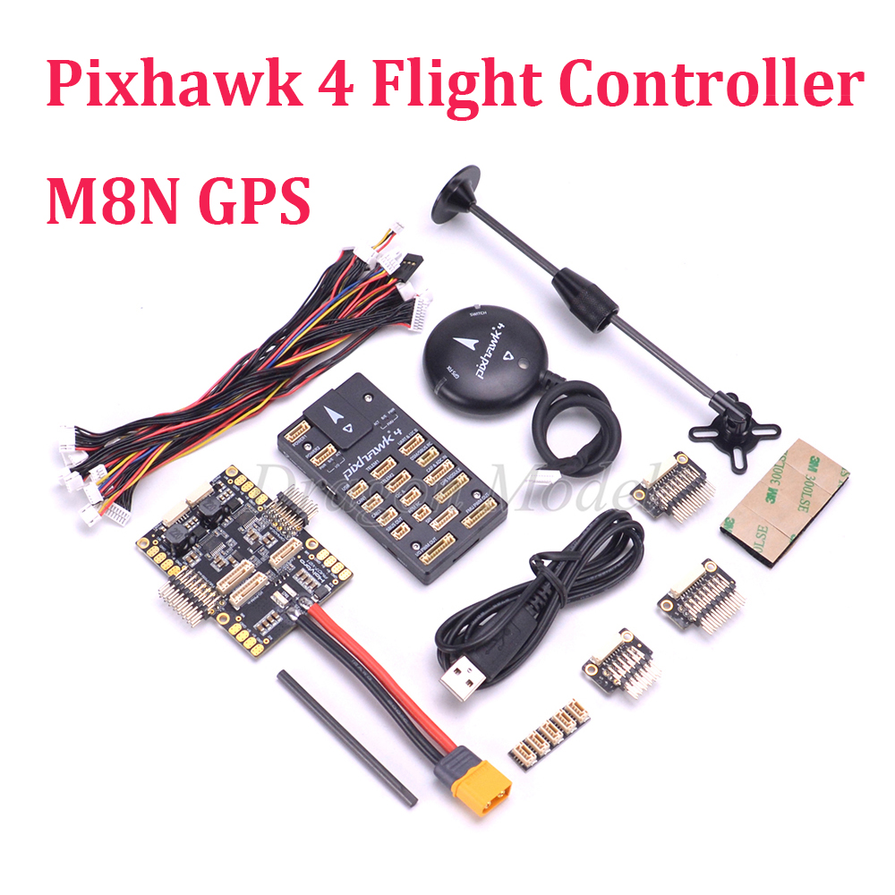 Pixhawk 4 Flight Control & GPS MODULE UBLOX NEO-M8N & PM07 Power Management Board autopilot Combo kit For FPV Quadcopter gy gps6mv1 neo 6m gps module for mwc aeroquad flight control board multicolored