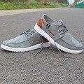 Entrega gratuita 2016 de Primavera Marca Zapatos de Los Hombres Ocasionales Atan para arriba lienzo Zapatos Planos Respirables Bajos Clásicos de Los Hombres Ocasionales Zapatos de los hombres Slipony