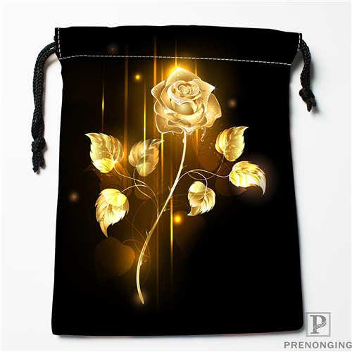 Custom Printing Yellow Rose 1 Drawstring Shopping Bags Travel Storage Pouch Swim Hiking Toy Bag Unisex Multi Size18-12-31-16