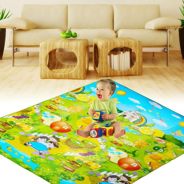 Rastejando Pad Bebê Kid Criança Crawl Jogar Jogo Tapete de Piquenique Multi-cor Letra Do Alfabeto Mat PE Algodão Esteira Do Jogo Do Bebê 180x 150 cm
