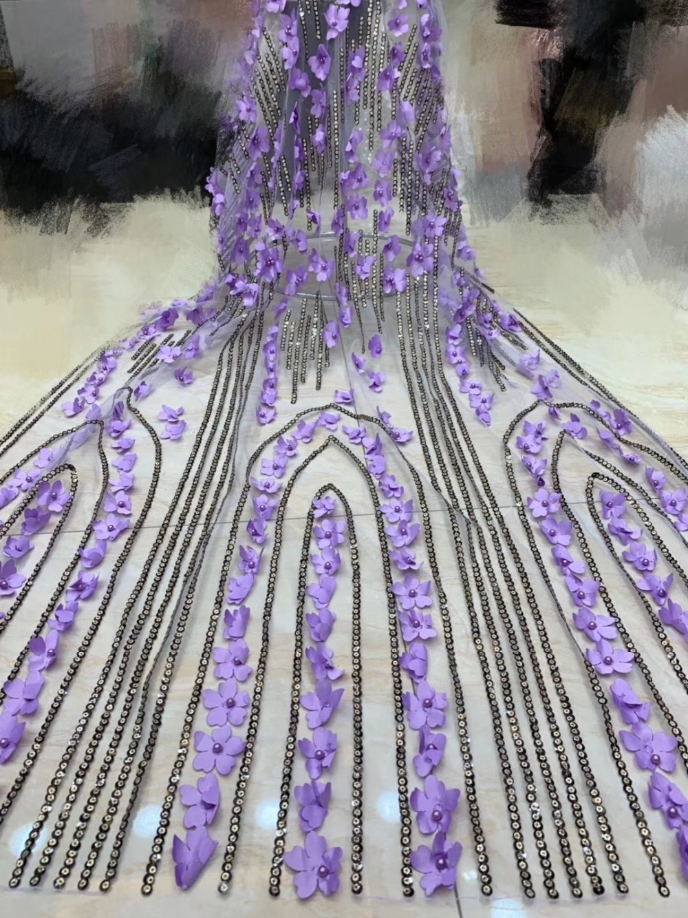 African Lace Fabric 2019 Embroidered Nigerian Laces Fabric Bridal High Quality French Tulle Lace Fabric For Wedding    JXINAP201African Lace Fabric 2019 Embroidered Nigerian Laces Fabric Bridal High Quality French Tulle Lace Fabric For Wedding    JXINAP201