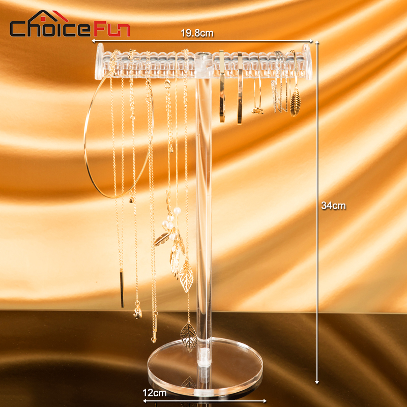 CHOICEFUN Hangende T-Bar Helder Hoog Acryl Sieraden Display Organizer - Home opslag en organisatie - Foto 3