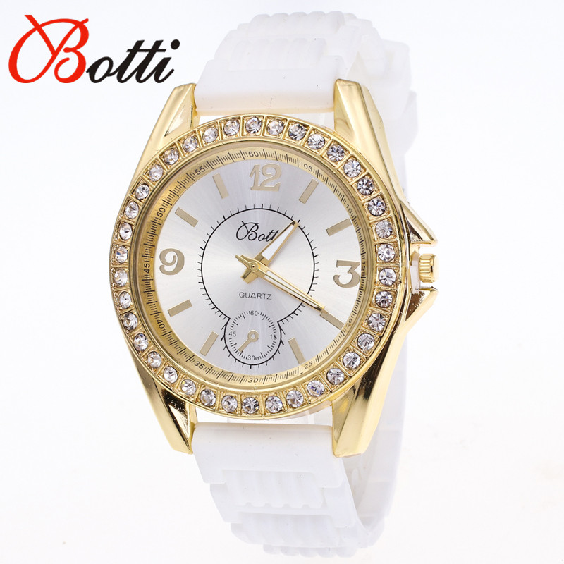 Ybotti New Fashion  Brand Trendy Casual Crystal Quartz Watch Women Dress Mint Green Silicone Watches Relogio Feminino Hot Sale 2016 new brand fashion retro style men dress quartz leather rivets bracelet watches women crystal casual relogio feminino watch