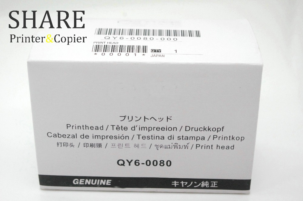 Original Printhead QY6 0080 For Canon IP4820 IP4850 IX6520 IX6550 MX715 MX885 MG5220 MG5250 MG5320 MG5350