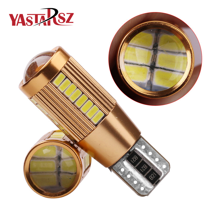 2pcs High power led 5 colors T10 LED Auto Car Light Bulb 4010 SMD 22 30 38 LED W5W Canbus 12V No Error car light led parking